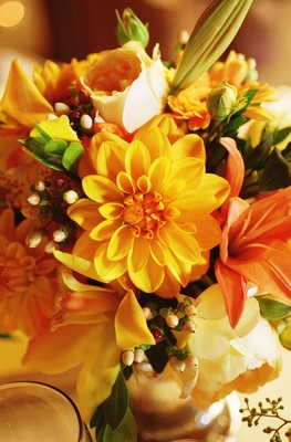 Flowers & Decor, Real Weddings, Wedding Style, yellow, orange, Rustic Real Weddings, Summer Weddings, West Coast Real Weddings, Summer Real Weddings, Rustic Weddings, Rustic Wedding Flowers & Decor, Summer Wedding Flowers & Decor, Centerpices