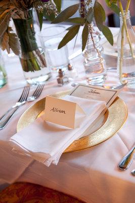 Real Weddings, gold, Fall Weddings, Rustic Real Weddings, West Coast Real Weddings, Fall Real Weddings, Rustic Weddings, Fall Wedding Flowers & Decor, Table settings