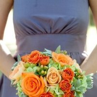Flowers & Decor, Real Weddings, Wedding Style, orange, Bridesmaid Bouquets, Rustic Real Weddings, Summer Weddings, West Coast Real Weddings, Summer Real Weddings, Rustic Weddings