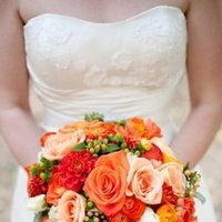 Flowers & Decor, Real Weddings, Wedding Style, orange, Bride Bouquets, Rustic Real Weddings, Summer Weddings, West Coast Real Weddings, Summer Real Weddings, Rustic Weddings, Summer Wedding Flowers & Decor