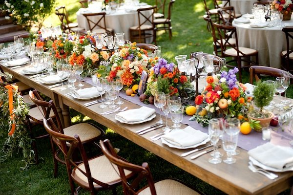 Flowers & Decor, Real Weddings, Wedding Style, Tables & Seating, Rustic Real Weddings, Summer Weddings, West Coast Real Weddings, Summer Real Weddings, Rustic Weddings, Fall Wedding Flowers & Decor, Rustic Wedding Flowers & Decor, Summer Wedding Flowers & Decor