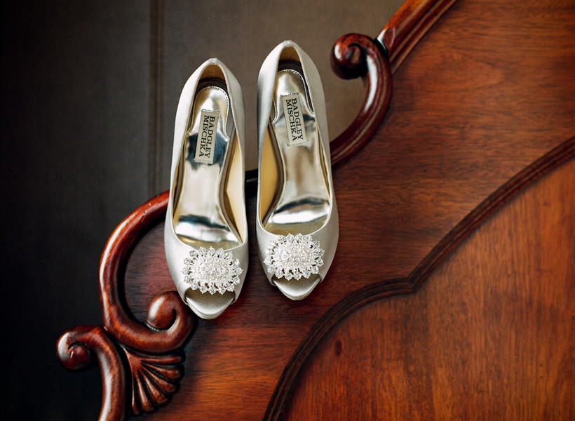 Real Weddings, Wedding Style, silver, Southern Real Weddings, Winter Weddings, City Real Weddings, Classic Real Weddings, Winter Real Weddings, City Weddings, Elegant, Formal, Badgley mischka, Southern weddings, Bride Shoes