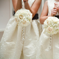 Flowers & Decor, Flower Girl Dresses, Flower Girls, Real Weddings, Wedding Style, ivory, Southern Real Weddings, Winter Weddings, City Real Weddings, Classic Real Weddings, Winter Real Weddings, City Weddings, Classic Wedding Flowers & Decor, Winter Wedding Flowers & Decor, Elegant, Formal, Pomanders, Southern weddings