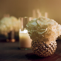 Flowers & Decor, Real Weddings, Wedding Style, ivory, Candles, Southern Real Weddings, Winter Weddings, City Real Weddings, Classic Real Weddings, Winter Real Weddings, City Weddings, Classic Wedding Flowers & Decor, Winter Wedding Flowers & Decor, Elegant, Hydrangea, Formal, Metallic, Candlelight, Southern weddings