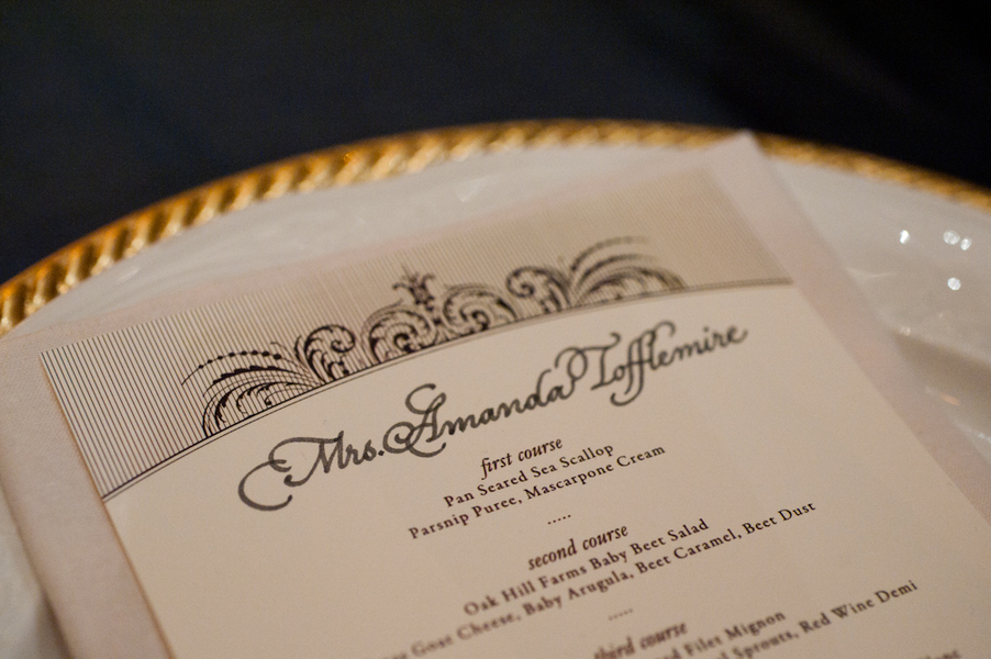 Stationery, Real Weddings, Wedding Style, Menu Cards, Southern Real Weddings, Winter Weddings, City Real Weddings, Classic Real Weddings, Winter Real Weddings, City Weddings, Elegant, Formal, Southern weddings