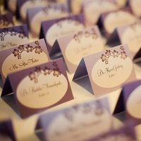 Stationery, Real Weddings, Wedding Style, purple, Place Cards, Escort Cards, West Coast Real Weddings, Shabby Chic Real Weddings, Shabby Chic Weddings, cultural real weddings, cultural weddings