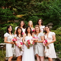 Real Weddings, pink, Bridesmaid Bouquets, Garden Real Weddings, Garden Weddings