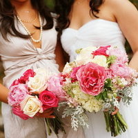 Real Weddings, pink, Bride Bouquets, Bridesmaid Bouquets, Garden Real Weddings, Garden Weddings