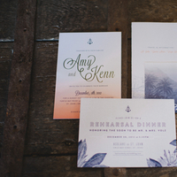 Stationery, Destination Weddings, Invitations, Beach Real Weddings, Peach, Beach wedding, Navy, Destination Real Weddings, Island Weddings, Island Real Weddings