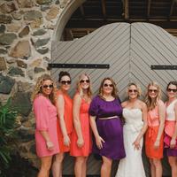Bridesmaids, pink, purple, Destination Weddings, Beach Real Weddings, Bridal party, Beach wedding, Vibrant, Destination Real Weddings, Island Weddings, Island Real Weddings, mix n match