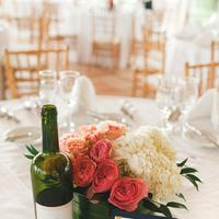 pink, Destination Weddings, Centerpieces, Beach Real Weddings, Classic Wedding Flowers & Decor, Summer Wedding Flowers & Decor, Hydrangea, Beach wedding, Garden rose, Destination Real Weddings, Island Weddings, Island Real Weddings