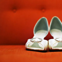 Shoes, Fashion, Real Weddings, Wedding Style, white, orange, West Coast Real Weddings, City Real Weddings, Glam Real Weddings, City Weddings, Glam Weddings