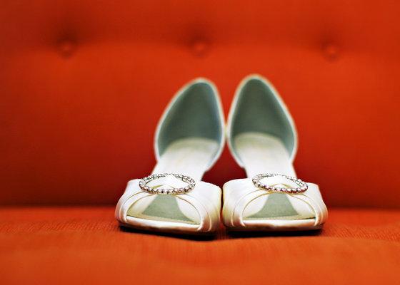 Shoes, Fashion, Real Weddings, Wedding Style, white, orange, West Coast Real Weddings, City Real Weddings, Glam Real Weddings, City Weddings, Glam Weddings