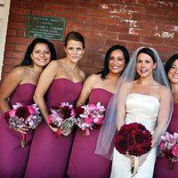 Bridesmaids Dresses, Fashion, Real Weddings, Wedding Style, pink, West Coast Real Weddings, City Real Weddings, Glam Real Weddings, City Weddings, Glam Weddings