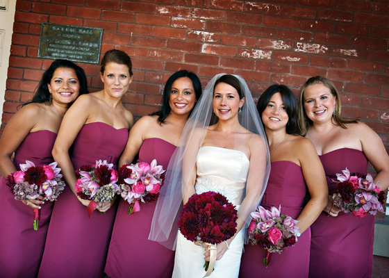 Bridesmaids Dresses, Fashion, Real Weddings, Wedding Style, pink, West Coast Real Weddings, City Real Weddings, Glam Real Weddings, City Weddings, Glam Weddings