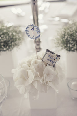Flowers & Decor, Stationery, Destinations, Real Weddings, Wedding Style, blue, Europe, Centerpieces, Table Numbers, Spring Weddings, Classic Real Weddings, Spring Real Weddings, Classic Weddings, Spring Wedding Flowers & Decor