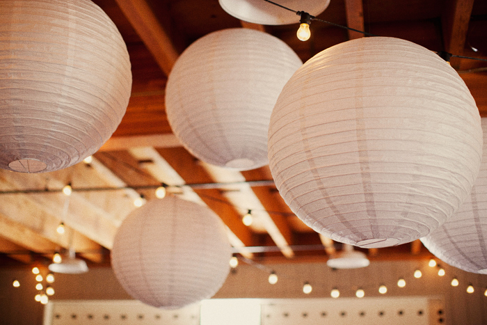 Flowers & Decor, Real Weddings, Wedding Style, white, Lighting, Rustic Real Weddings, West Coast Real Weddings, Eco-Friendly Real Weddings, Eco-Friendly Weddings, Rustic Weddings, Rustic Wedding Flowers & Decor, Paper lanterns