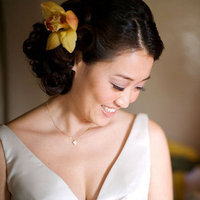 Beauty, Real Weddings, yellow, Updo, Fall Weddings, West Coast Real Weddings, Fall Real Weddings, Hair, Hair flower