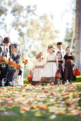 Real Weddings, orange, red, Fall Weddings, West Coast Real Weddings, Fall Real Weddings