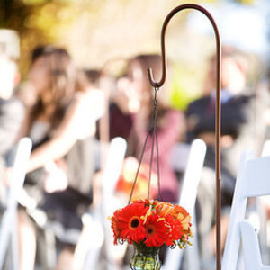 Real Weddings, red, Aisle Decor, Fall Weddings, West Coast Real Weddings, Fall Real Weddings, Fall Wedding Flowers & Decor