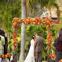 Flowers & Decor, Real Weddings, Wedding Style, yellow, orange, red, Ceremony Flowers, Aisle Decor, Fall Weddings, West Coast Real Weddings, Fall Real Weddings, Fall Wedding Flowers & Decor