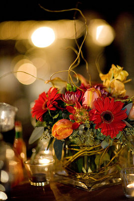 Vibrant and colorful centerpieces added to the elegance of for Angela florist decoration