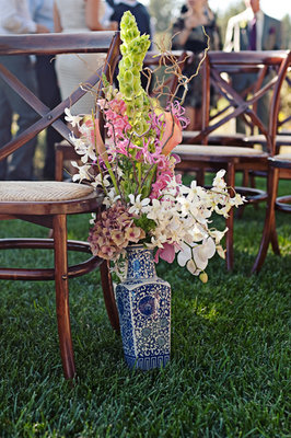 Flowers & Decor, Real Weddings, Wedding Style, pink, green, Ceremony Flowers, Aisle Decor, Summer Weddings, West Coast Real Weddings, Garden Real Weddings, Summer Real Weddings, Garden Weddings, Garden Wedding Flowers & Decor, Summer Wedding Flowers & Decor