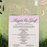 Stationery, Real Weddings, Wedding Style, pink, green, Ceremony Programs, Summer Weddings, West Coast Real Weddings, Garden Real Weddings, Summer Real Weddings, Garden Weddings