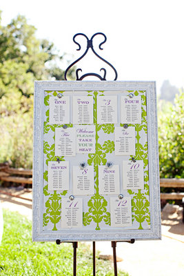Stationery, Real Weddings, Wedding Style, green, Escort Cards, Table Numbers, Summer Weddings, West Coast Real Weddings, Garden Real Weddings, Summer Real Weddings, Garden Weddings
