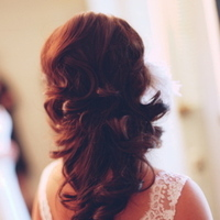 Beauty, Real Weddings, Half-up, Wavy Hair, Long Hair, Summer Weddings, West Coast Real Weddings, Summer Real Weddings