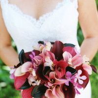 Real Weddings, red, purple, Bride Bouquets, Summer Weddings, West Coast Real Weddings, Summer Real Weddings