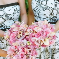 Real Weddings, pink, Bridesmaid Bouquets, Summer Weddings, West Coast Real Weddings, Summer Real Weddings
