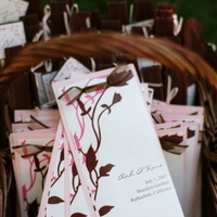 Real Weddings, pink, brown, Ceremony Programs, Summer Weddings, West Coast Real Weddings, Summer Real Weddings