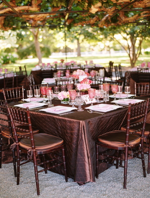 Real Weddings, brown, Tables & Seating, Summer Weddings, West Coast Real Weddings, Garden Real Weddings, Summer Real Weddings, Garden Weddings, Garden Wedding Flowers & Decor, Summer Wedding Flowers & Decor