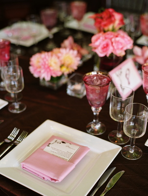 Real Weddings, pink, Place Settings, Summer Weddings, West Coast Real Weddings, Garden Real Weddings, Summer Real Weddings, Garden Weddings, Garden Wedding Flowers & Decor, Summer Wedding Flowers & Decor, Table settings