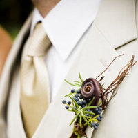 Real Weddings, brown, Boutonnieres, Fall Weddings, Fall Real Weddings, Midwest Real Weddings