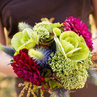 Real Weddings, pink, green, Bridesmaid Bouquets, Fall Weddings, Fall Real Weddings, Midwest Real Weddings