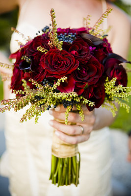 Flowers & Decor, Real Weddings, Wedding Style, red, Bride Bouquets, Fall Weddings, Fall Real Weddings, Midwest Real Weddings