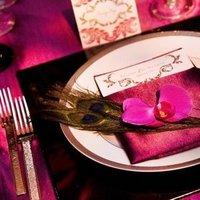 Real Weddings, pink, Place Settings, West Coast Real Weddings, Glam Real Weddings, Glam Weddings, Glam Wedding Flowers & Decor, Table settings