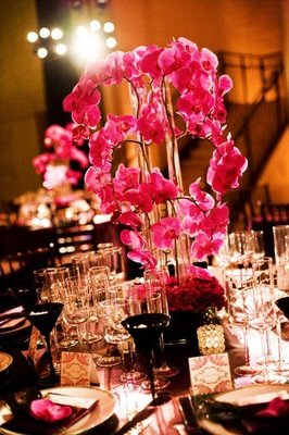 Real Weddings, pink, Centerpieces, West Coast Real Weddings, Glam Real Weddings, Glam Weddings