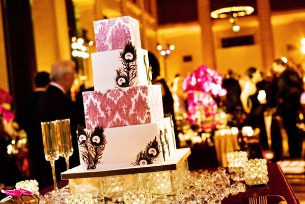 Cakes, Real Weddings, Wedding Style, pink, Glam Wedding Cakes, Square Wedding Cakes, Wedding Cakes, West Coast Real Weddings, Glam Real Weddings, Glam Weddings