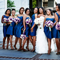 Bridesmaid Dresses, Fashion, Real Weddings, Wedding Style, blue, Modern Real Weddings, Southern Real Weddings, Spring Weddings, City Real Weddings, Spring Real Weddings, City Weddings, Modern Weddings