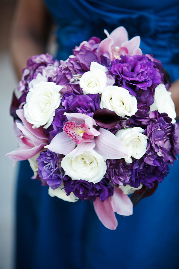 Flowers & Decor, Real Weddings, Wedding Style, purple, Bridesmaid Bouquets, Modern Real Weddings, Southern Real Weddings, Spring Weddings, City Real Weddings, Spring Real Weddings, City Weddings, Modern Weddings, Modern Wedding Flowers & Decor, Spring Wedding Flowers & Decor, city wedding flowers & decor