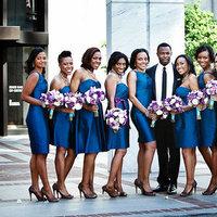 Bridesmaid Dresses, Fashion, Real Weddings, Wedding Style, blue, Modern Real Weddings, Southern Real Weddings, Spring Weddings, City Real Weddings, Spring Real Weddings, City Weddings, Modern Weddings