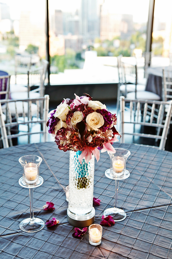 Flowers & Decor, Real Weddings, Wedding Style, white, red, gray, silver, Centerpieces, Candles, Modern Real Weddings, Southern Real Weddings, Spring Weddings, City Real Weddings, Spring Real Weddings, City Weddings, Modern Weddings, Modern Wedding Flowers & Decor, city wedding flowers & decor