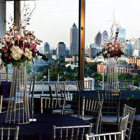 Flowers & Decor, Real Weddings, Wedding Style, white, red, gray, silver, Centerpieces, Tables & Seating, Modern Real Weddings, Southern Real Weddings, Spring Weddings, City Real Weddings, Spring Real Weddings, City Weddings, Modern Weddings, Modern Wedding Flowers & Decor, city wedding flowers & decor