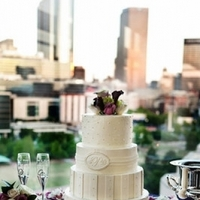 Cakes, Real Weddings, Wedding Style, white, purple, silver, Monogrammed Wedding Cakes, Round Wedding Cakes, Wedding Cakes, Modern Real Weddings, Southern Real Weddings, Spring Weddings, City Real Weddings, Spring Real Weddings, City Weddings, Modern Weddings