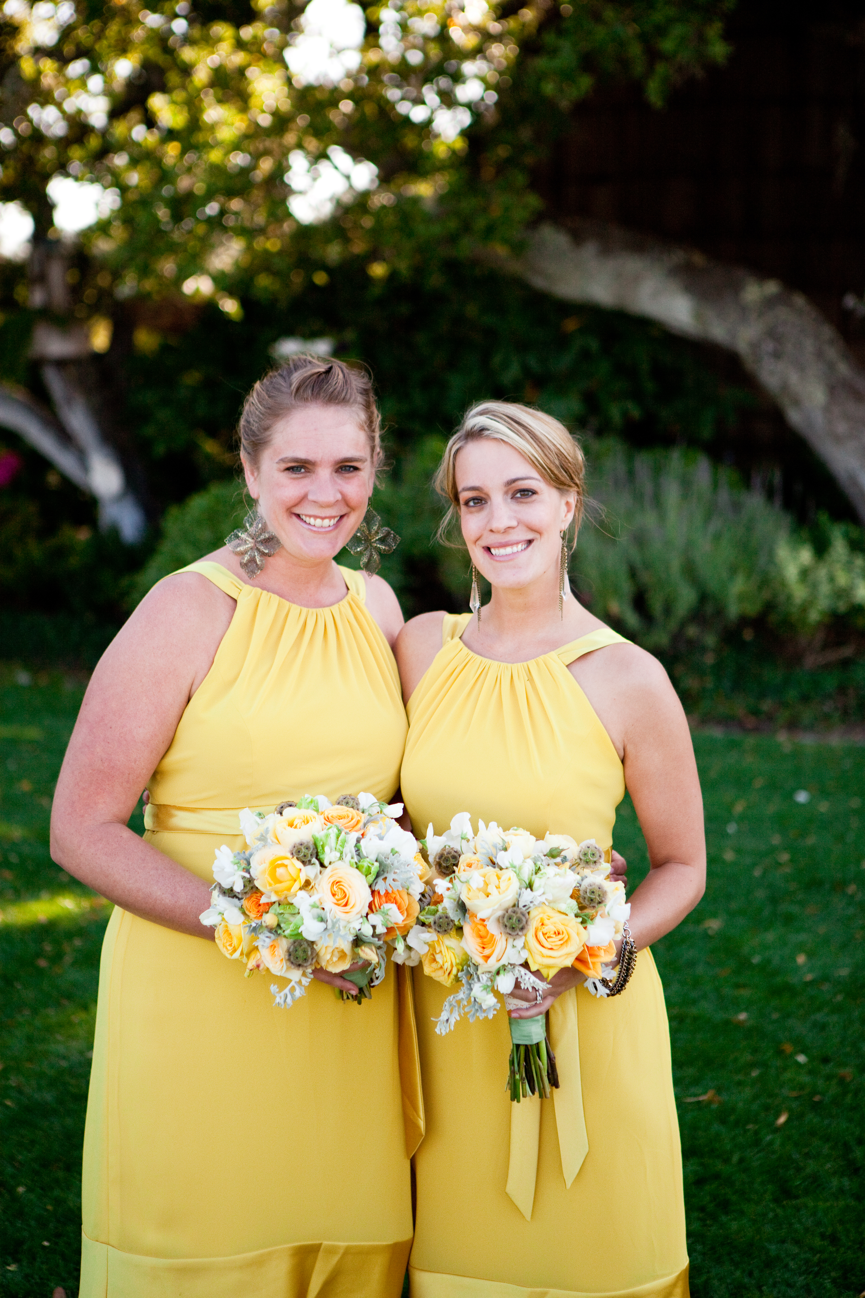 Bridesmaid Dresses, Fashion, Real Weddings, Wedding Style, yellow, Summer Weddings, West Coast Real Weddings, Garden Real Weddings, Summer Real Weddings, Garden Weddings