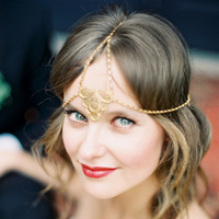 Beauty, Real Weddings, Wedding Style, Makeup, Down, Wavy Hair, Short Hair, Headbands, Fair Complexion, Spring Weddings, West Coast Real Weddings, Boho Chic Real Weddings, Garden Real Weddings, Spring Real Weddings, Boho Chic Weddings, Garden Weddings