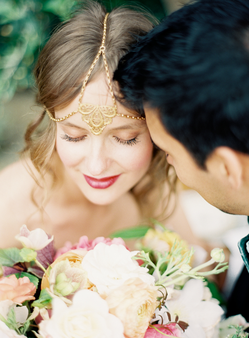 Beauty, Real Weddings, Wedding Style, ivory, pink, Makeup, Down, Wavy Hair, Headbands, Fair Complexion, Spring Weddings, West Coast Real Weddings, Boho Chic Real Weddings, Garden Real Weddings, Spring Real Weddings, Boho Chic Weddings, Garden Weddings